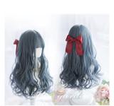 Alice Garden - 62cm Long Big Curly Wavy Dark Blue Lolita Wig