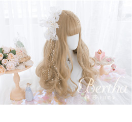 Alice Garden - 51cm Long Big Curly Wavy Gold Lolita Wig