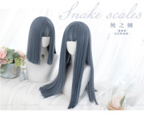 Alice Garden - Straight Grayish Blue Lolita Wig