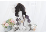 Alice Garden - 64cm Long Big Curly Wavy Black and Purple Lolita Wig