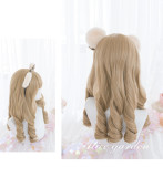 Alice Garden - 51cm Long Big Curly Wavy Gold Lolita Wig