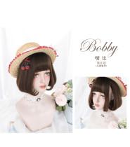 Alice Garden - 27cm Short Straight Chocolate Lolita Bobo Wig
