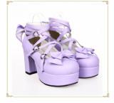 Angelic Imprint - Lolita High Chunky Heel Platform Round Toe Lolita Shoes