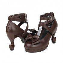 Angelic Imprint - Classic High Stiletto Heel Lolita Shoes with Removable Bow