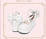 Angelic Imprint - Sweet  5cm Mid Heel Platform Round Toe Lolita Shoes with Bow