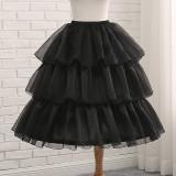 Diamond Tulle Adjustable Puffy Level and Length 50-70cm Lolita Petticoat