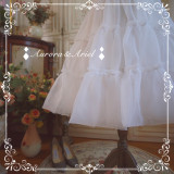 A-line Shaped 60cm Long Mini Puffy Organza Lolita Petticoat