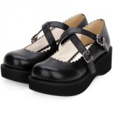 Angelic Imprint - Sweet 5cm Mid Heel Platform Round Toe Lolita Shoes