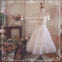 A-line Shaped 60cm Long Mini Puffy Organza Lolita Petticoat