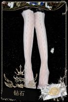 Yidhra - Diamond Over Knee Glass Yarn Lolita Stocking for Summer