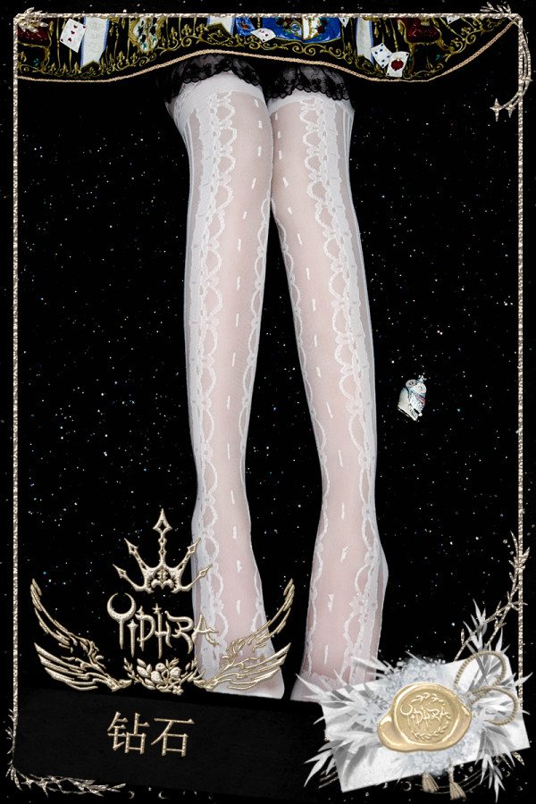 Yidhra - Diamond Over Knee Glass Yarn Lolita Stocking for Summer