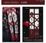 Yidhra - Thorns Cross Over Knee Glassy Yarn Gothic Lolita Stocking for Summer