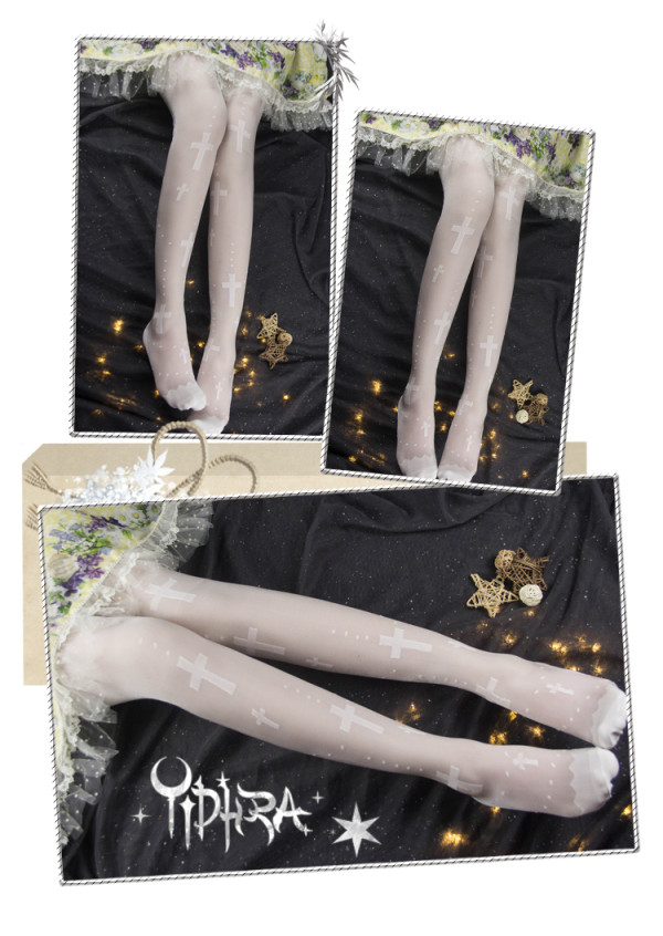 Yidhra - Maria Over Knee Gothic Lolita Stocking for Summer