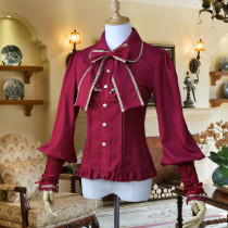 Chiffon Long Puffy Sleeve Classical Vintage Lolita Blouse with Removable Bow Tie