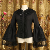 Chiffon Long Flare Sleeve Classical Vintage Lolita Blouse