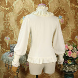 Chiffon Long Sleeve Stand Lace Collar Classical Vintage Lolita Blouse for Autumn