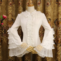 Chiffon Long Flare Sleeve Classical Vintage Lolita Blouse