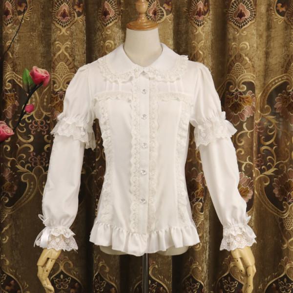 Chiffon Detachable Long Sleeve Sweet Lolita Blouse
