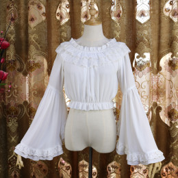 Chiffon Long Flare Sleeve Off Shoulder Vintage Lolita Blouse