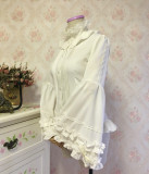 Chiffon Puffy/Flare Adjustable Long Sleeve Stand Collar Gothic Lolita Blouse