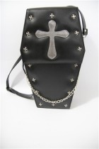 Loris - Cross Black Gothic Lolita Bag(Crossbody and Backpack Available)