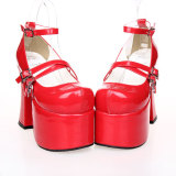 Angelic Imprint - High Chunky Heel Round Toe Buckle Platform Gothic Lolita Shoes