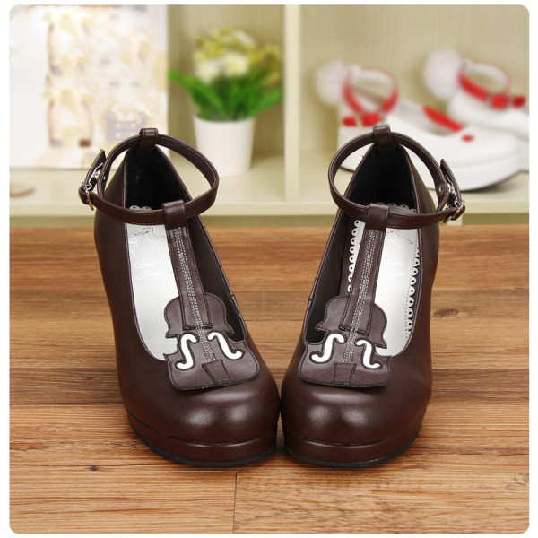 Angelic Imprint - High Heel Round Toe Buckle Violin Sweet Lolita Shoes