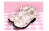 Angelic Imprint - Flat Round Toe Buckle Sweet Lolita Shoes with Bow