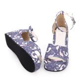 Angelic Imprint - Middle High Heel Open Toe Buckle Sweet Lolita Platform Sandals