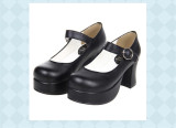 Angelic Imprint - High Chunky Heel Round Toe Buckle Classic Platform Lolita Shoes