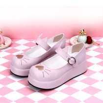 Angelic Imprint - Middle Heel Round Toe Buckle Heart Sweet Lolita Platform Shoes