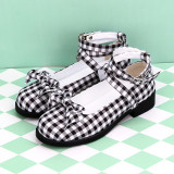 Angelic Imprint - Round Toe Buckle Sweet Lolita Flat Shoes with Bow