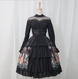 Meware - Gothic Long Sleeve Lolita OP One Piece Dress