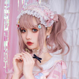 Brocade Garden - Sweet Lolita Headband with Lace and Bow
