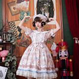 Brocade Garden - Short Sleeve Sweet Lolita OP One Piece Dress
