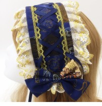 Brocade Garden - Classical Lolita Headband with Lace and Prints