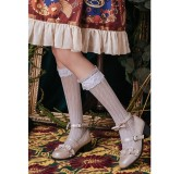 Brocade Garden - Calf Middle Length Sweet Lolita Stocking with Lace