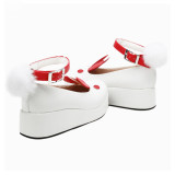 Angelic Imprint - Middle Heel Round Toe Buckle Rabbit Ear Sweet Lolita Platform Shoes