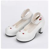 Angelic Imprint - High Wedge Heel Round Toe Paste Cat Sweet Lolita Shoes