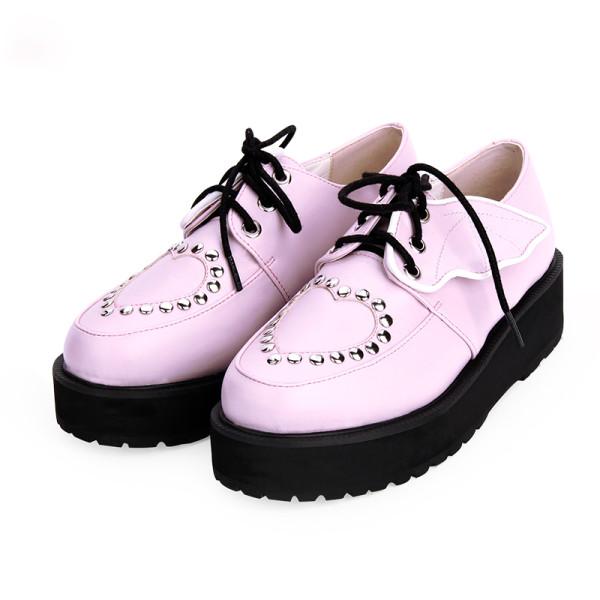 Angelic Imprint - High Heel Round Toe Gothic Punk Lolita Platform Shoes