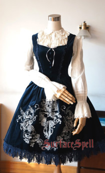 Surface Spell -Judgment Day- Embroidery Gothic Lolita JSK Jumper Skirt for Autumn and Winter