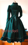 Surface Spell -Judgment Day- Embroidery Long Sleeve Knee Length Gothic Lolita OP One Piece Dress for Autumn and Winter