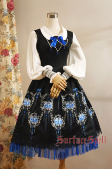 Surface Spell -Dancing Rose- Embroidery Gothic Lolita JSK Jumper Skirt