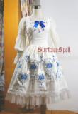 Surface Spell -Dancing Rose- Embroidery Gothic Lolita JSK Jumper Skirt