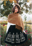 Surface Spell - Gothic Embroidery Wool High Waist Lolita  Winter Skirt for Autumn and Winter