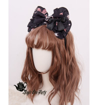 Magic Tea Party -Chocolate Rabbit- Sweet Lolita Headdress(Headbow, Bow hairpin)