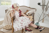 Magic Tea Party -Chocolate Rabbit- Sweetheart Split Color Neckline Sweet Lolita JSK Jumper Skirt