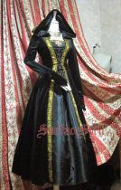 Surface Spell -Assassin's Creed- Long Sleeves Gothic Lolita OP One Piece Dress with Hood