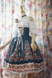 Surface Spell -Alpine Rose- High Waist Gothic Lolita Skirt