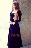 Surface Spell -War and Peace- Vintage Long Sleeves Unicolor Ankle Length Gothic Lolita OP One Piece Dress